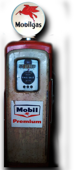 Mobilgas antique gas pump